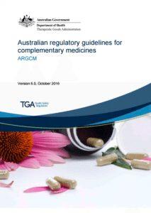 New Australian Complementary Medicines Guidance